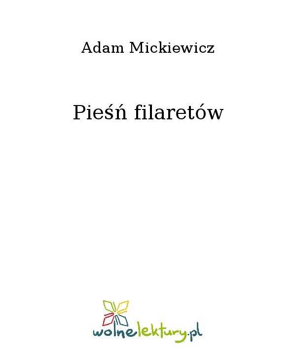 Pieśń filaretów - Ebook (Książka na Kindle) do pobrania w formacie MOBI
