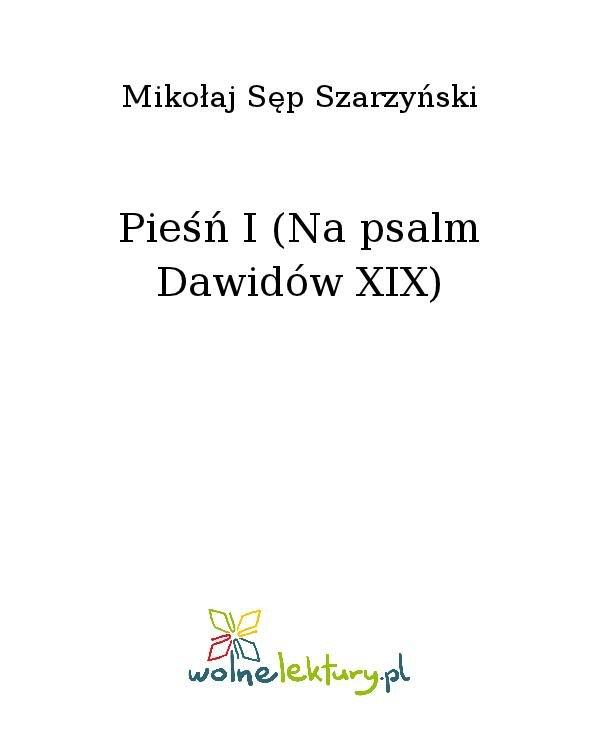 Pieśń I (Na psalm Dawidów XIX) - Ebook (Książka na Kindle) do pobrania w formacie MOBI