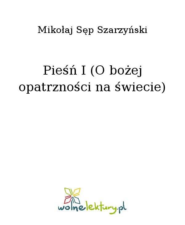 Pieśń I (O bożej opatrzności na świecie) - Ebook (Książka na Kindle) do pobrania w formacie MOBI