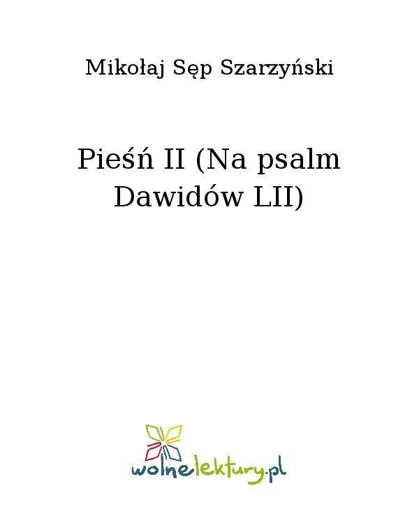 Pieśń II (Na psalm Dawidów LII) - Ebook (Książka na Kindle) do pobrania w formacie MOBI