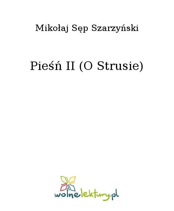 Pieśń II (O Strusie) - Ebook (Książka na Kindle) do pobrania w formacie MOBI