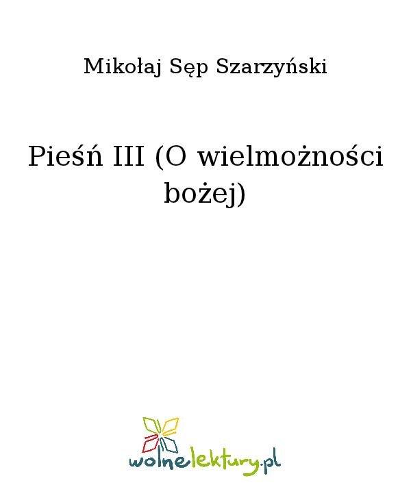 Pieśń III (O wielmożności bożej) - Ebook (Książka na Kindle) do pobrania w formacie MOBI