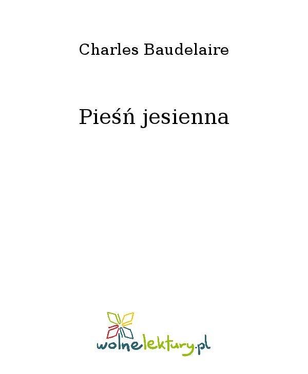 Pieśń jesienna - Ebook (Książka na Kindle) do pobrania w formacie MOBI