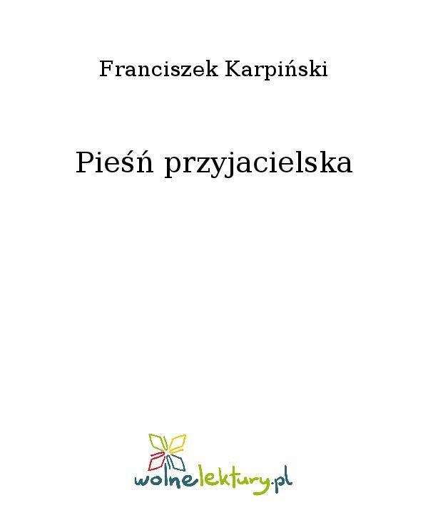 Pieśń przyjacielska - Ebook (Książka na Kindle) do pobrania w formacie MOBI
