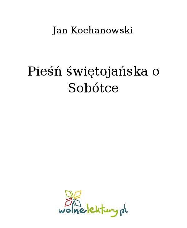 Pieśń świętojańska o Sobótce - Ebook (Książka na Kindle) do pobrania w formacie MOBI