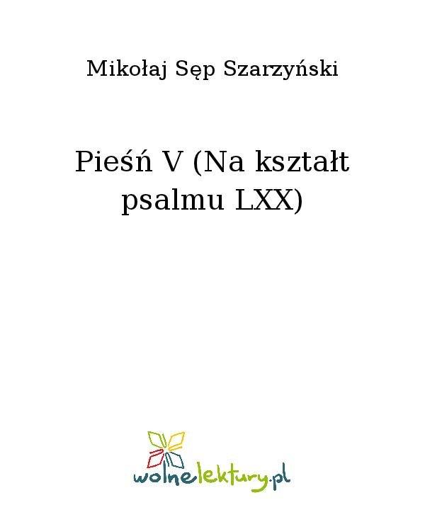 Pieśń V (Na kształt psalmu LXX) - Ebook (Książka na Kindle) do pobrania w formacie MOBI