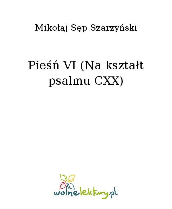 Pieśń VI (Na kształt psalmu CXX) - Ebook (Książka na Kindle) do pobrania w formacie MOBI