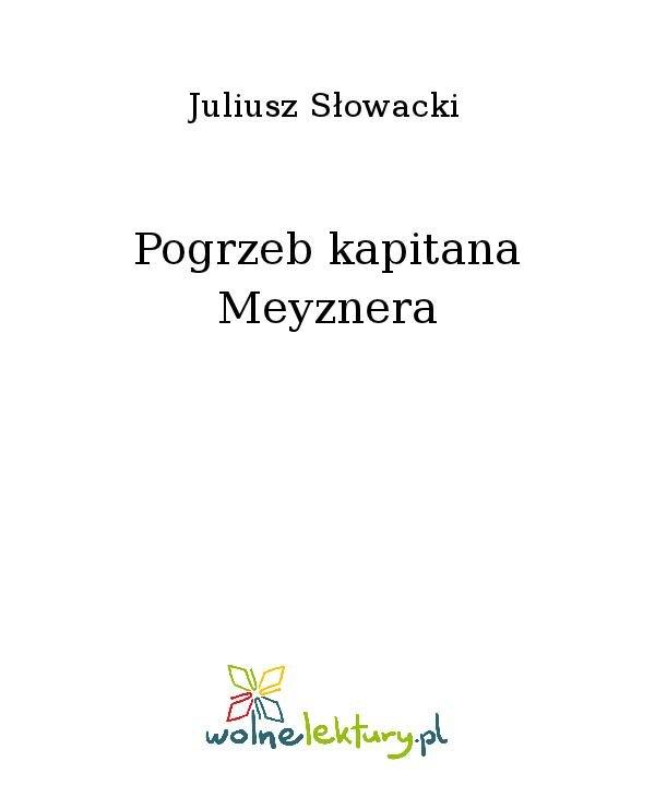 Pogrzeb kapitana Meyznera - Ebook (Książka na Kindle) do pobrania w formacie MOBI