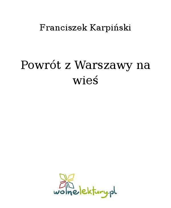 Powrót z Warszawy na wieś - Ebook (Książka na Kindle) do pobrania w formacie MOBI