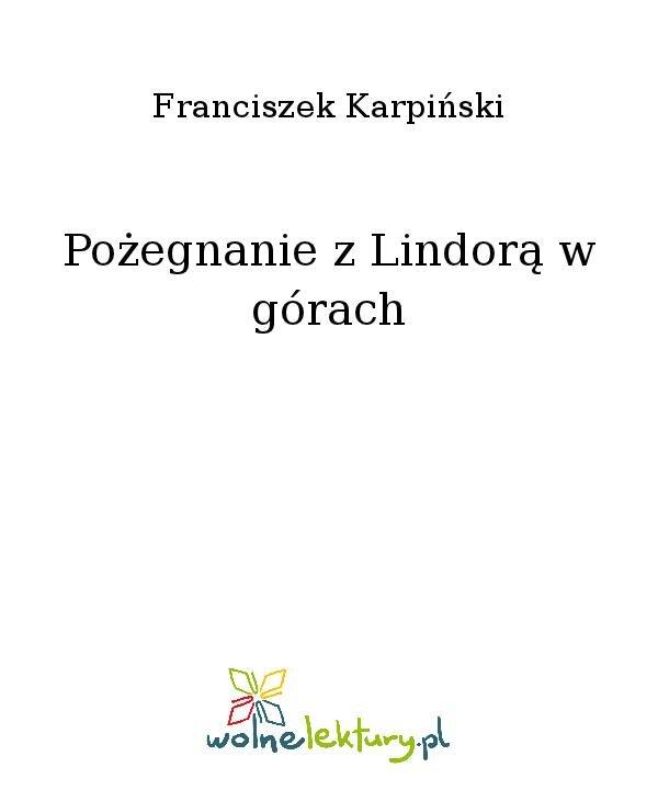 Pożegnanie z Lindorą w górach - Ebook (Książka na Kindle) do pobrania w formacie MOBI