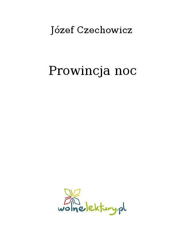 Prowincja noc - Ebook (Książka na Kindle) do pobrania w formacie MOBI