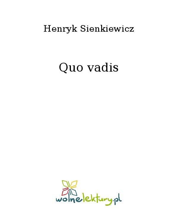 Quo vadis - Ebook (Książka na Kindle) do pobrania w formacie MOBI