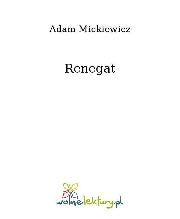 Renegat - Ebook (Książka na Kindle) do pobrania w formacie MOBI