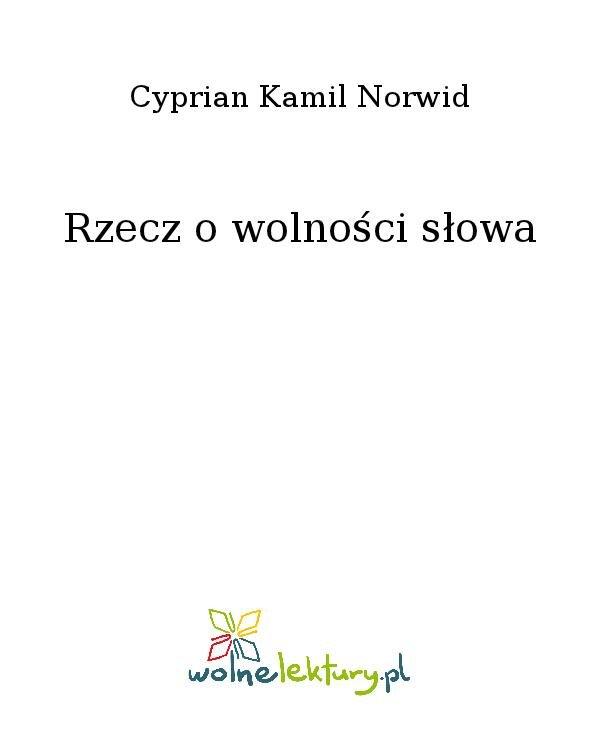 Rzecz o wolności słowa - Ebook (Książka na Kindle) do pobrania w formacie MOBI