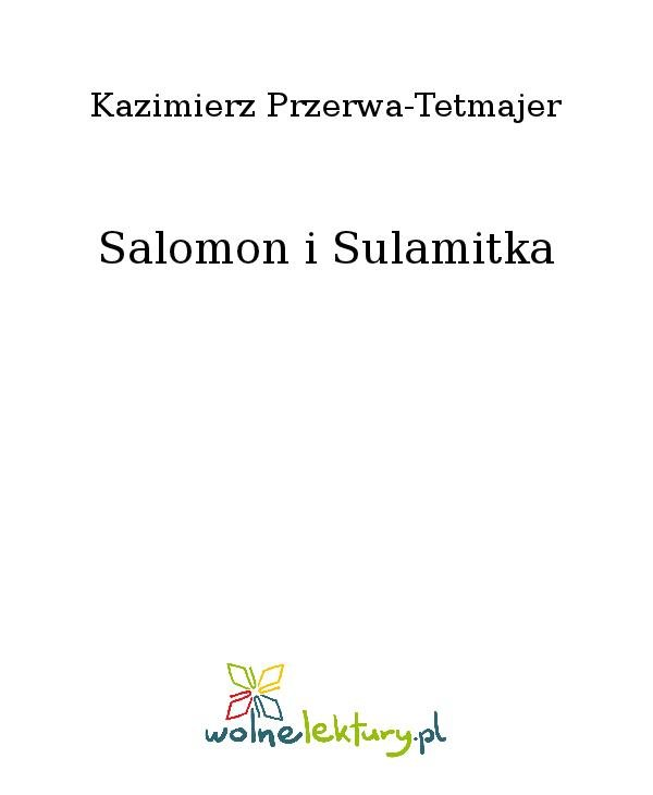Salomon i Sulamitka - Ebook (Książka na Kindle) do pobrania w formacie MOBI