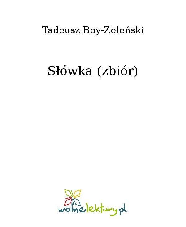 Słówka (zbiór) - Ebook (Książka na Kindle) do pobrania w formacie MOBI