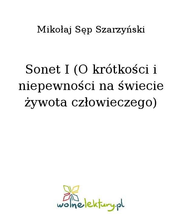 Sonet I (O krótkości i niepewności na świecie żywota człowieczego) - Ebook (Książka na Kindle) do pobrania w formacie MOBI