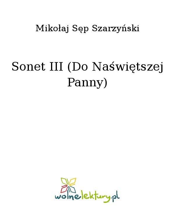 Sonet III (Do Naświętszej Panny) - Ebook (Książka na Kindle) do pobrania w formacie MOBI