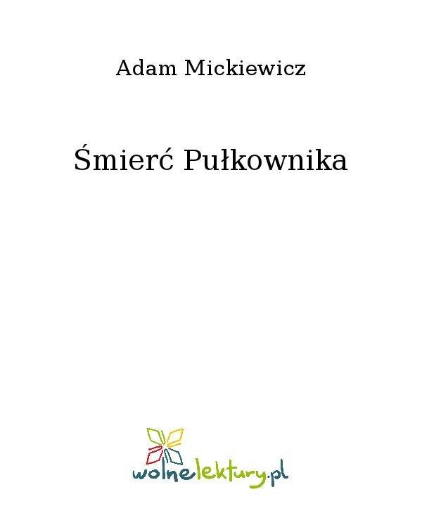 Śmierć Pułkownika - Ebook (Książka na Kindle) do pobrania w formacie MOBI