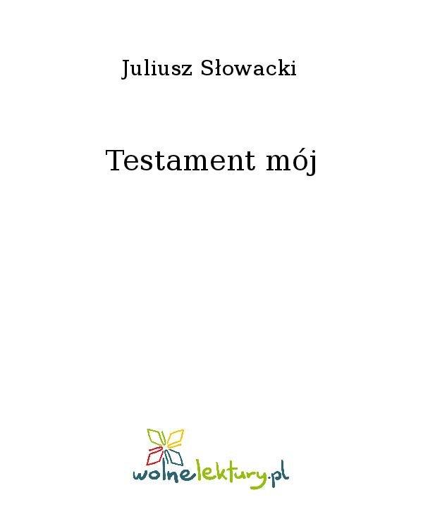 Testament mój - Ebook (Książka na Kindle) do pobrania w formacie MOBI