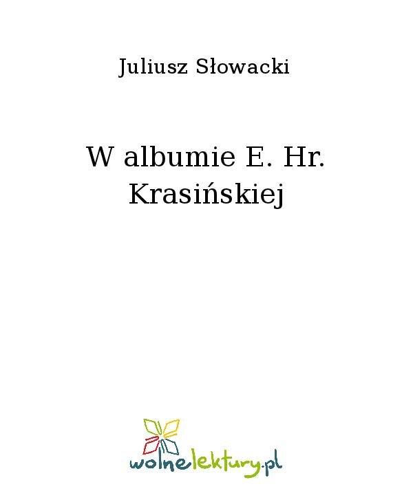 W albumie E. Hr. Krasińskiej - Ebook (Książka na Kindle) do pobrania w formacie MOBI