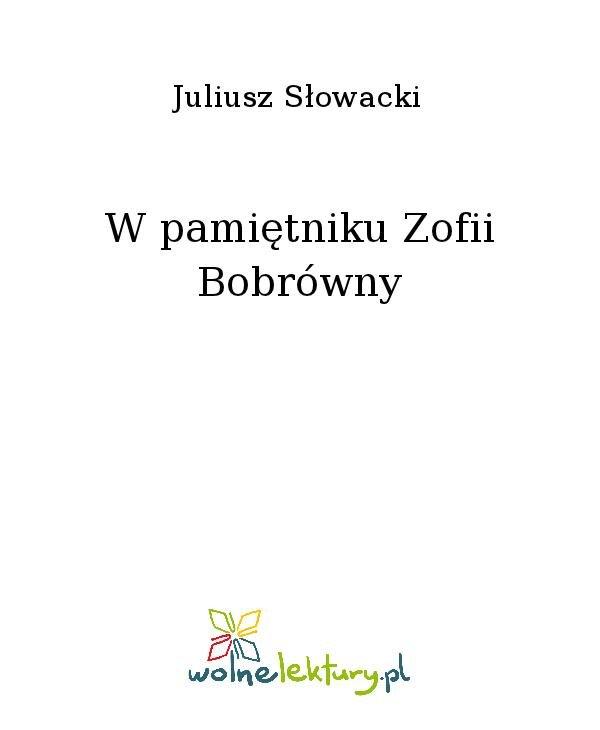 W pamiętniku Zofii Bobrówny - Ebook (Książka na Kindle) do pobrania w formacie MOBI