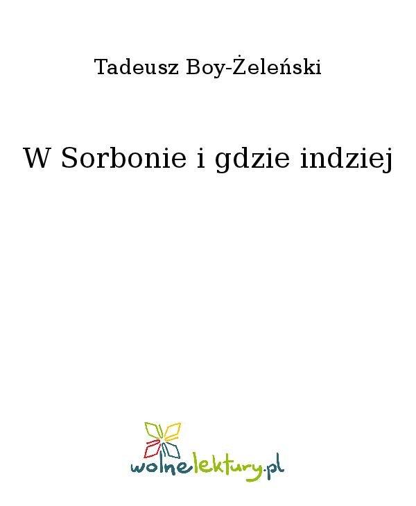 W Sorbonie i gdzie indziej - Ebook (Książka na Kindle) do pobrania w formacie MOBI