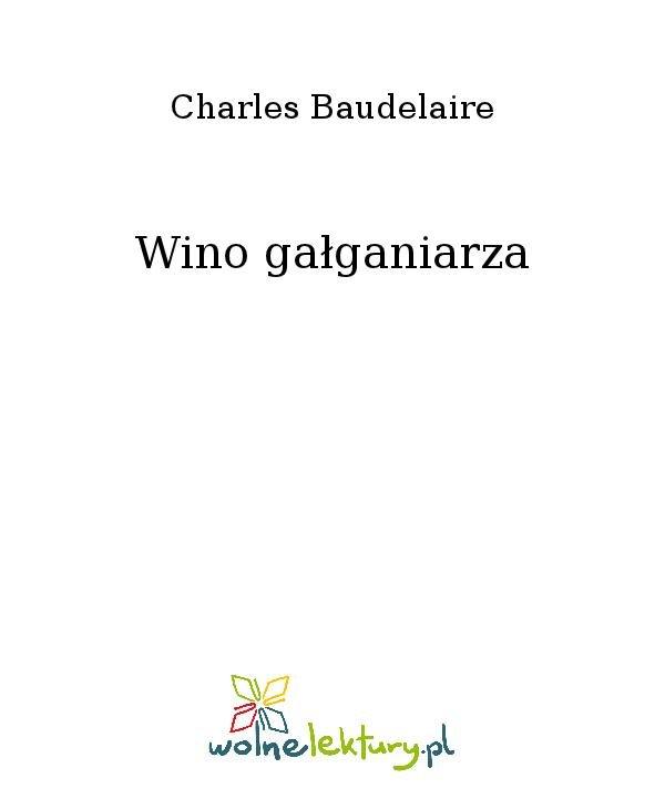 Wino gałganiarza - Ebook (Książka na Kindle) do pobrania w formacie MOBI