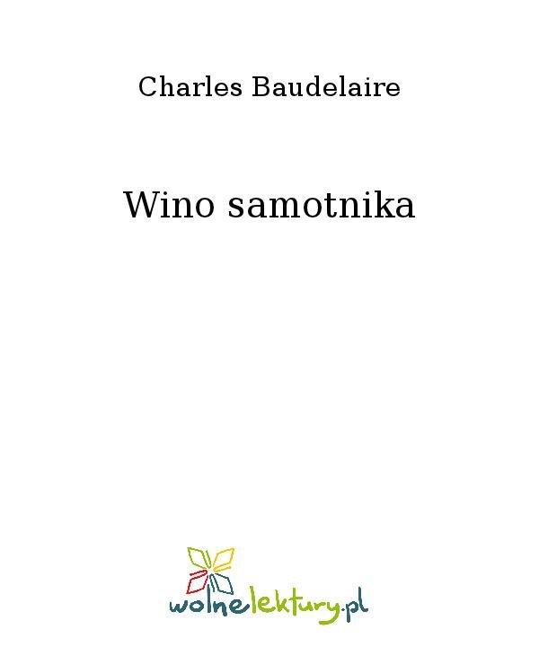 Wino samotnika - Ebook (Książka na Kindle) do pobrania w formacie MOBI
