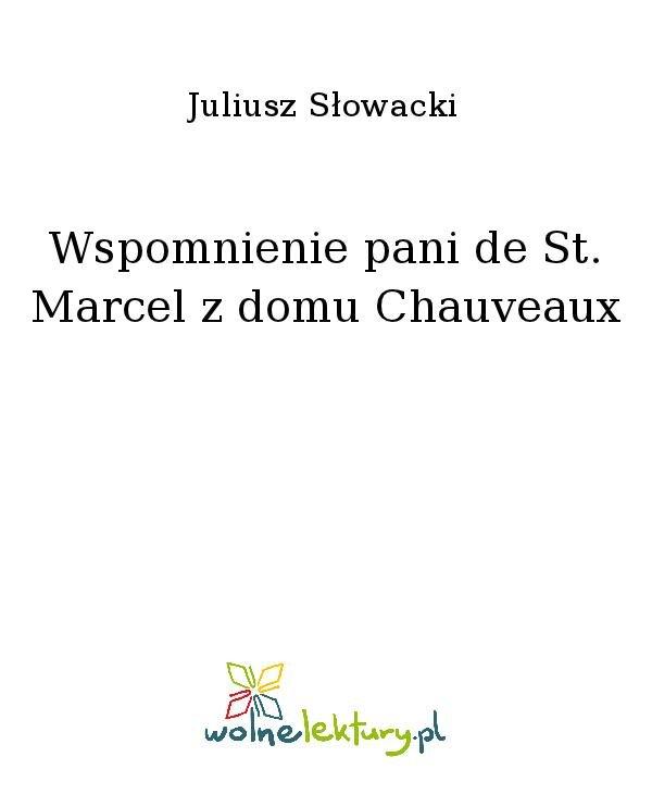 Wspomnienie pani de St. Marcel z domu Chauveaux - Ebook (Książka na Kindle) do pobrania w formacie MOBI