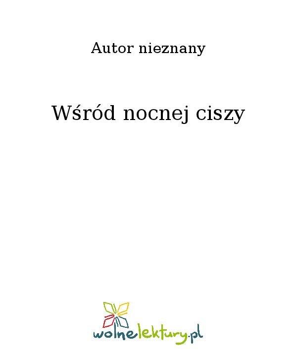 Wśród nocnej ciszy - Ebook (Książka na Kindle) do pobrania w formacie MOBI