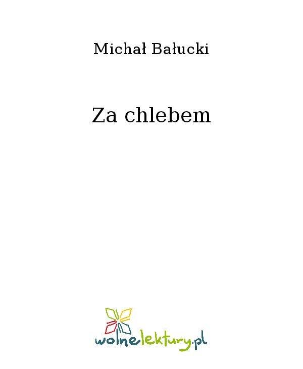 Za chlebem - Ebook (Książka na Kindle) do pobrania w formacie MOBI