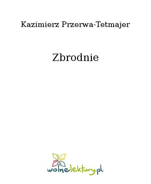 Zbrodnie - Ebook (Książka na Kindle) do pobrania w formacie MOBI