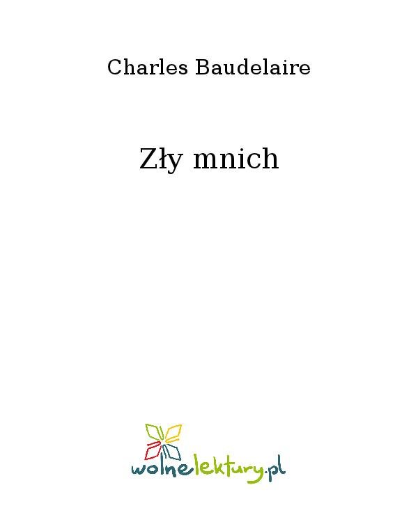 Zły mnich - Ebook (Książka na Kindle) do pobrania w formacie MOBI