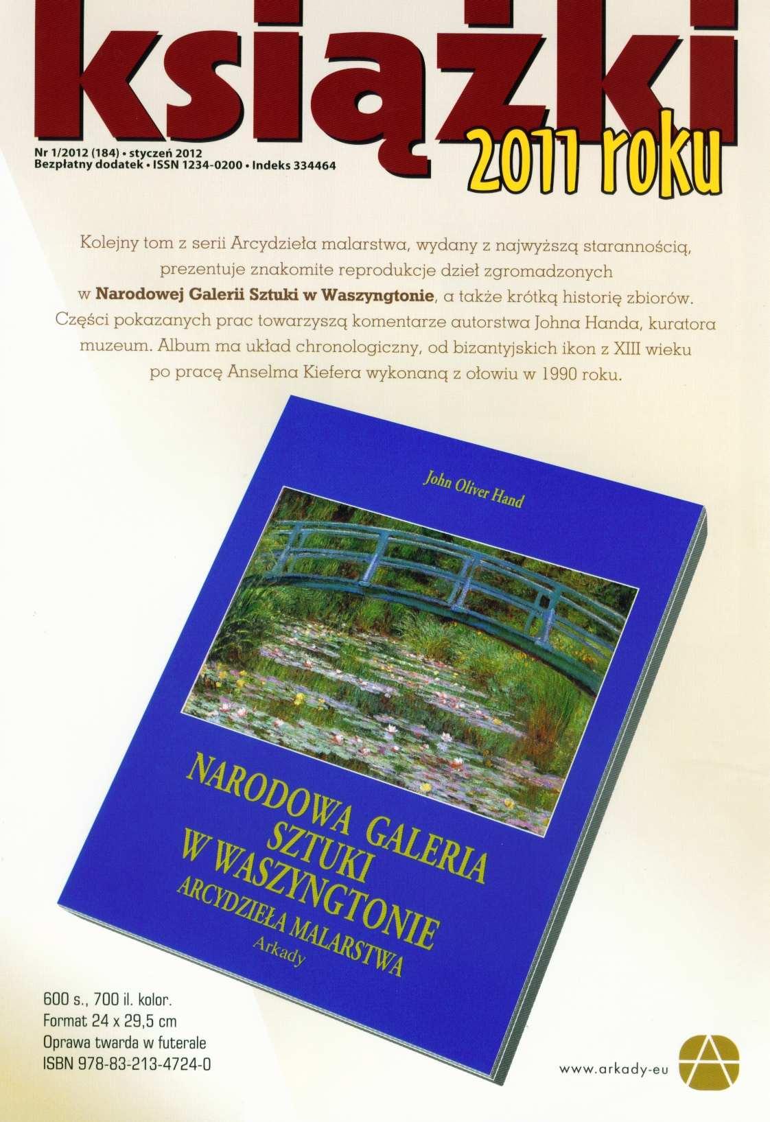 Książki roku 2011 Nr 1/2012 (184) - Ebook (Książka PDF) do pobrania w formacie PDF