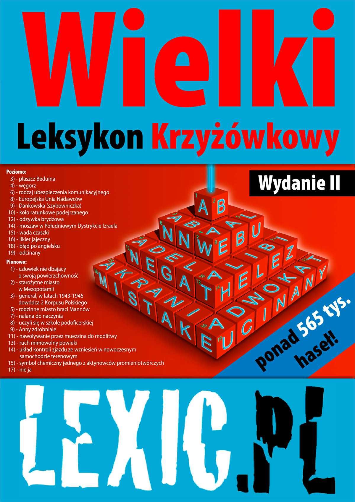 Wielki Leksykon Krzyżówkowy LEXIC.PL - Ebook (Książka PDF) do pobrania w formacie PDF