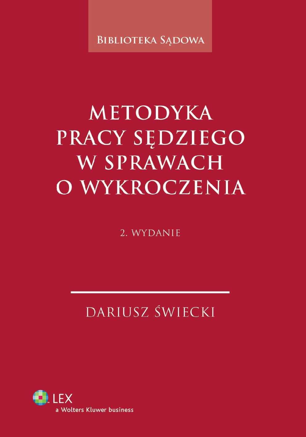 Metodyka pracy sędziego w sprawach o wykroczenia - Ebook (Książka PDF) do pobrania w formacie PDF