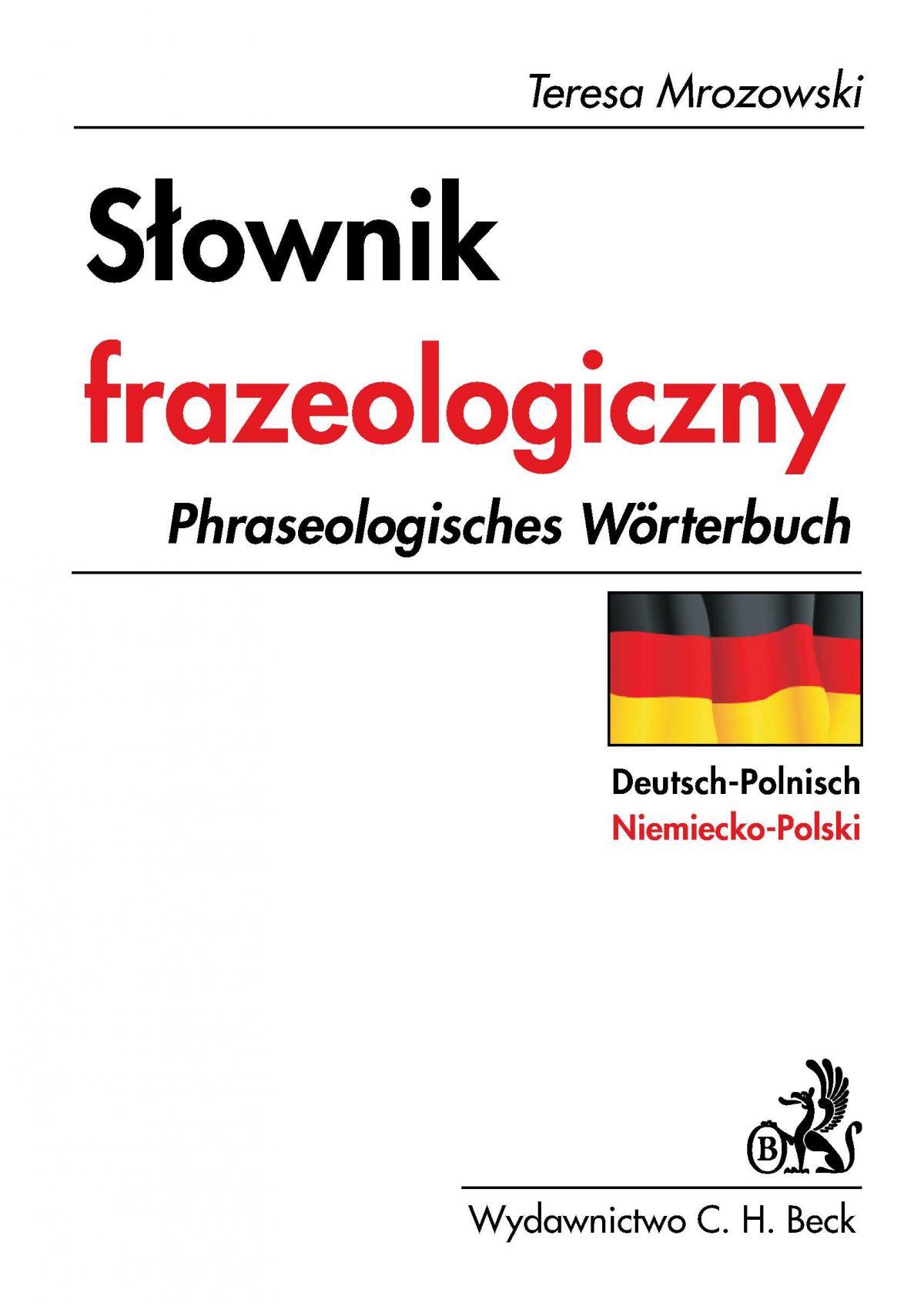 Słownik frazeologiczny niemiecko - polski - Ebook (Książka PDF) do pobrania w formacie PDF