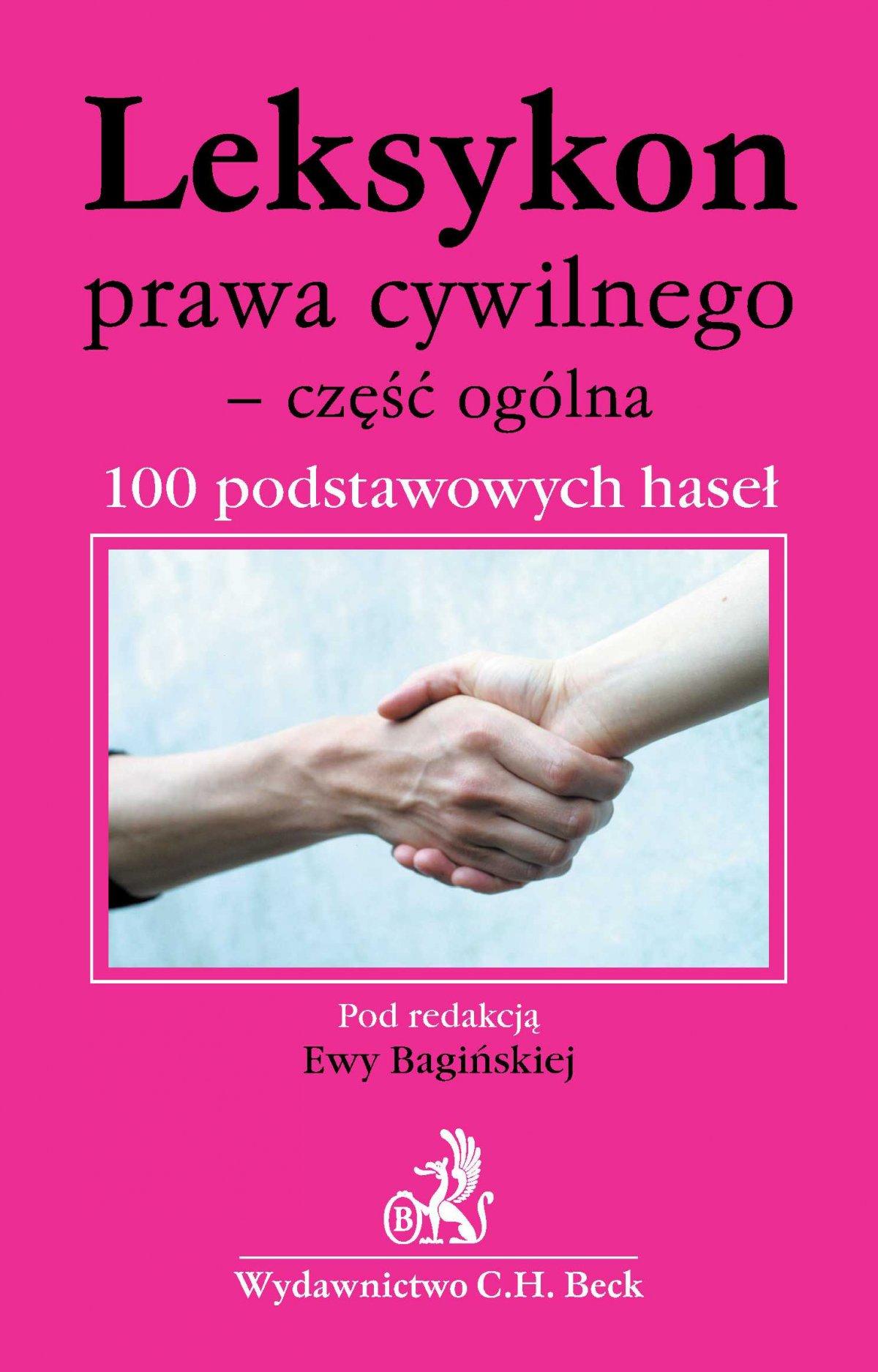 Leksykon prawa cywilnego - część ogólna 100 podstawowych haseł - Ebook (Książka PDF) do pobrania w formacie PDF