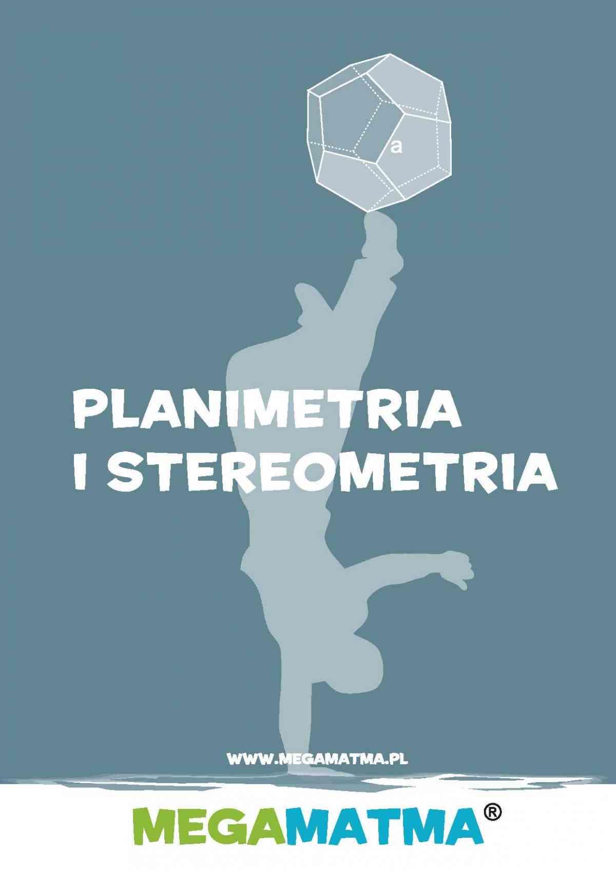 Matematyka-Planimetria, stereometria wg MegaMatma. - Ebook (Książka PDF) do pobrania w formacie PDF