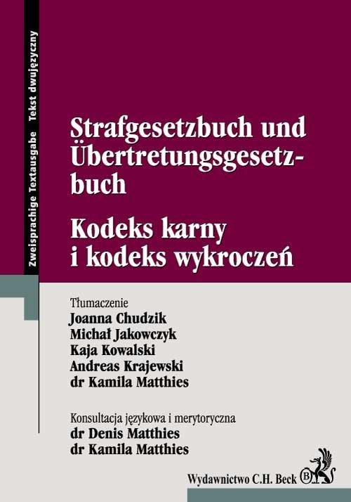 Kodeks karny i kodeks wykroczeń Strafgesetzbuch Und Űbertretungsgesetzbuch - Ebook (Książka PDF) do pobrania w formacie PDF