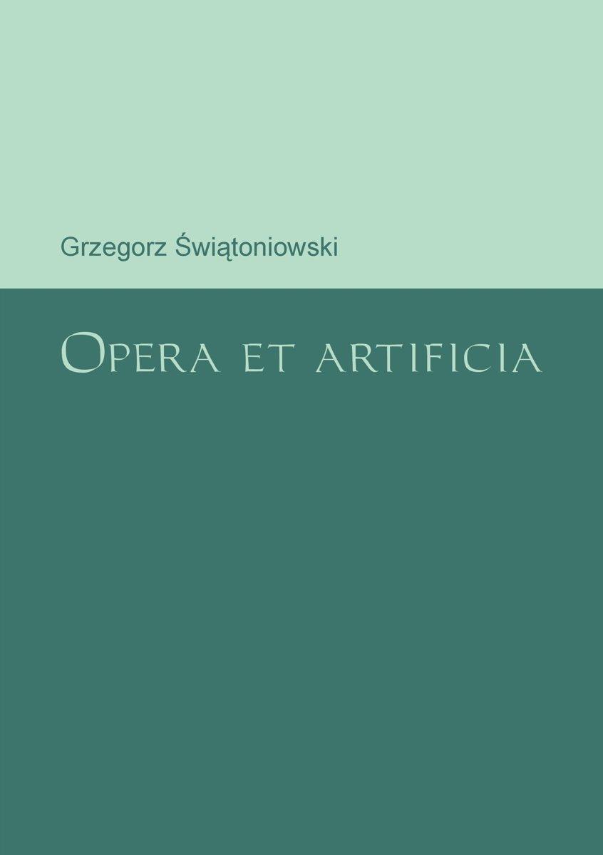 Opera et artificia - Ebook (Książka PDF) do pobrania w formacie PDF