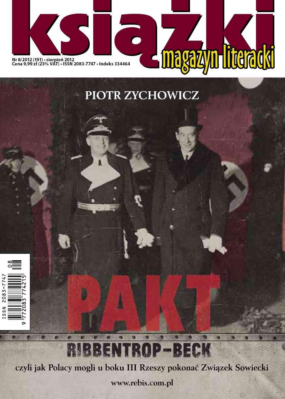 Magazyn Literacki KSIĄŻKI - nr 8/2012 (191) - Ebook (Książka PDF) do pobrania w formacie PDF