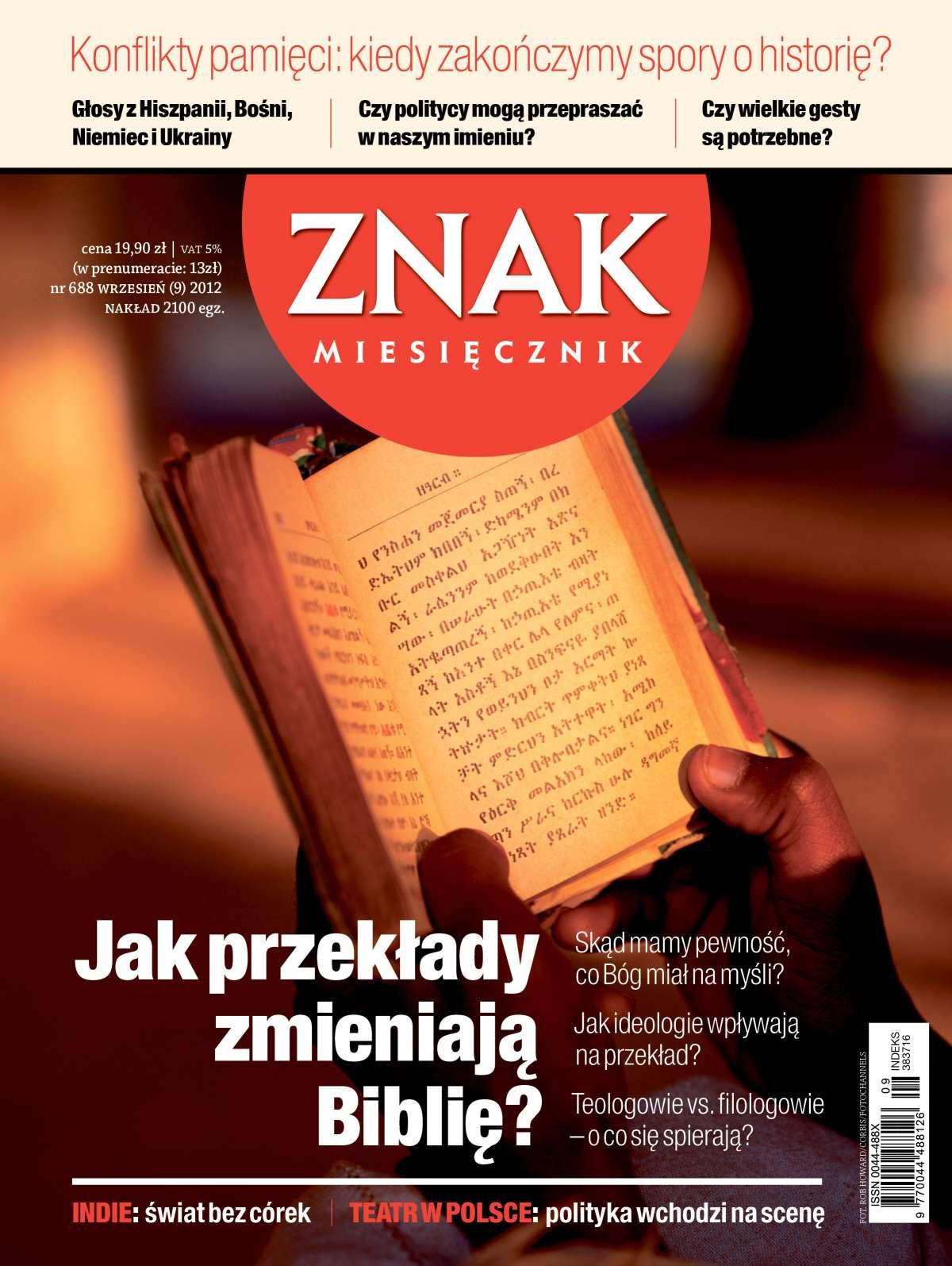 Miesięcznik Znak. Wrzesień 2012 - Ebook (Książka PDF) do pobrania w formacie PDF