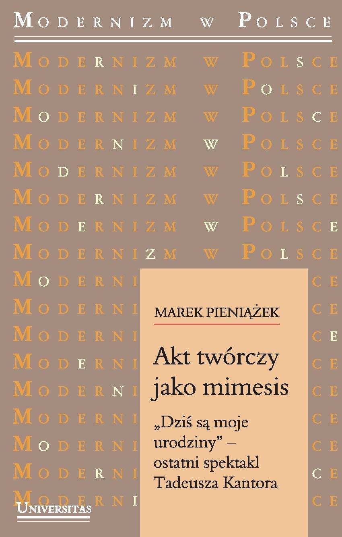 Akt twórczy jako mimesis - Ebook (Książka PDF) do pobrania w formacie PDF
