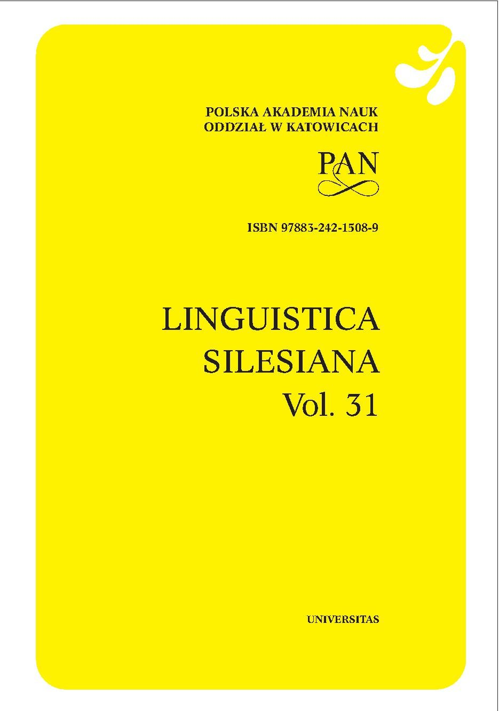 Linguistica Silesiana, vol. 31 - Ebook (Książka PDF) do pobrania w formacie PDF