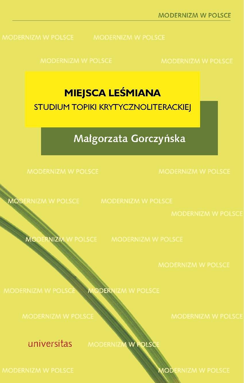 Miejsca Leśmiana - Ebook (Książka PDF) do pobrania w formacie PDF