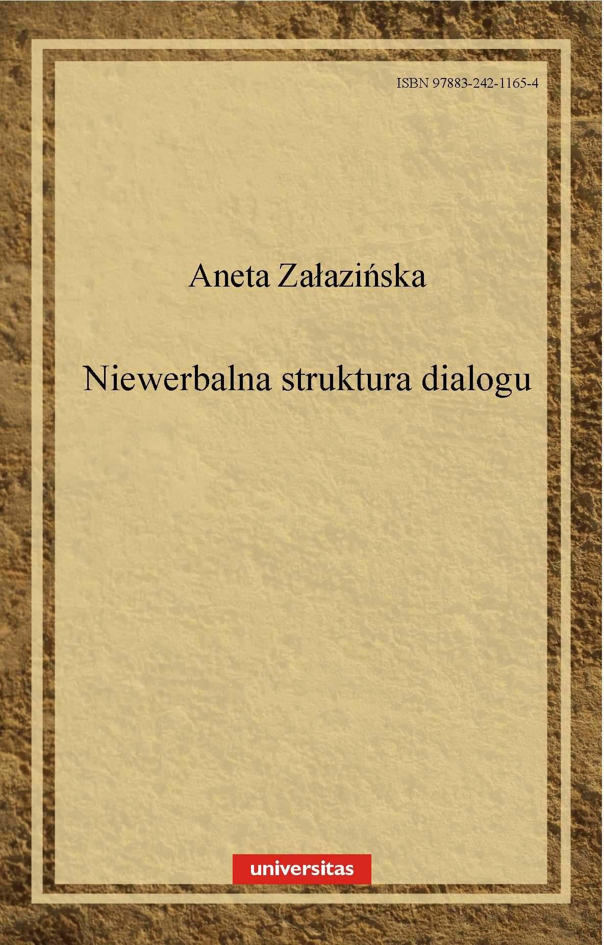 Niewerbalna struktura dialogu - Ebook (Książka PDF) do pobrania w formacie PDF