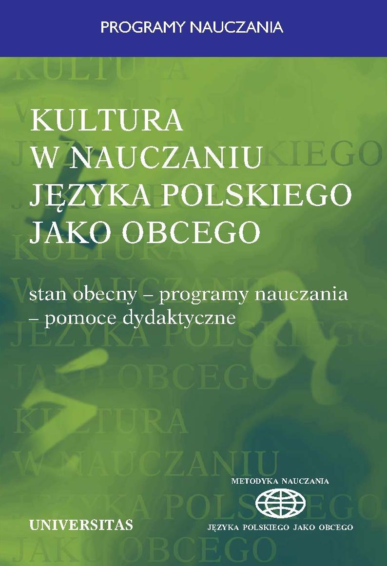 Kultura w nauczaniu języka polskiego jako obcego - Ebook (Książka PDF) do pobrania w formacie PDF