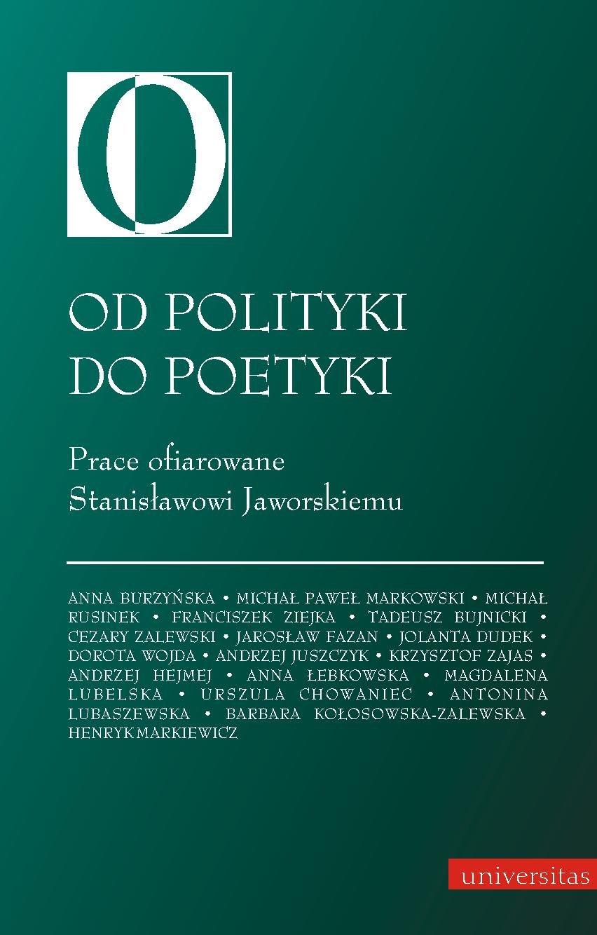 Od polityki do poetyki - Ebook (Książka PDF) do pobrania w formacie PDF
